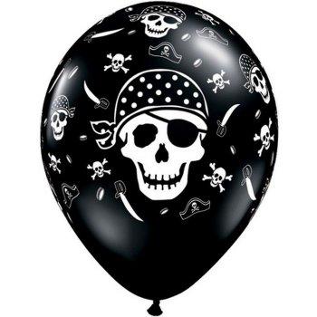 6 Ballons Tête de Mort Pirate
