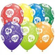 25 Ballons Jour des morts Rainbow