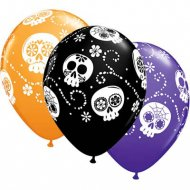 25 Ballons Jour des Morts Halloween