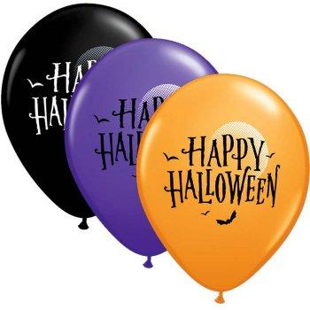 25 Ballons Happy Halloween