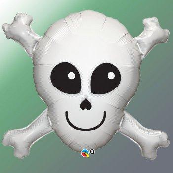 Ballon Géant Tête de Mort Pirate (81 cm)