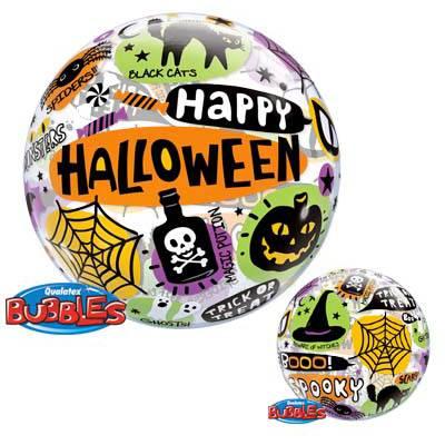 Bubble Ballon Gonflé à l Hélium Happy Halloween