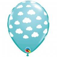 25 Ballons Nuages Ciel Turquoise