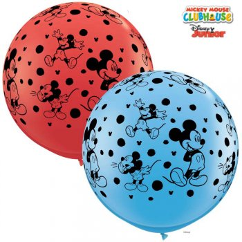 2 Ballons Géants Mickey (86 cm)