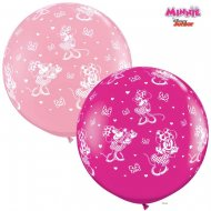 2 Ballons Géants Minnie Rose (86 cm)