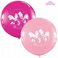 2 Ballons Géant Princesse Disney Rose (86 cm)