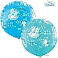 2 Ballons Géant Reine des Neiges Bleu (86 cm)