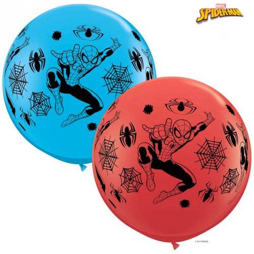 2 Ballons Géant Spiderman (86 cm)