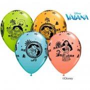 25 Ballons Vaiana Multicolores