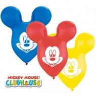 25 Ballons Oreilles de Mickey Multicolores (38 cm)