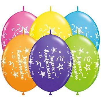 Guirlande 50 Ballons Joyeux Anniversaire Etoiles