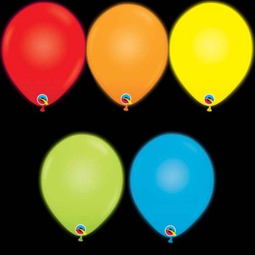 5 ballons avec LED intégrée