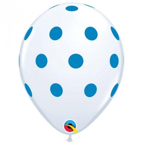 25 Ballons à Pois Bleu