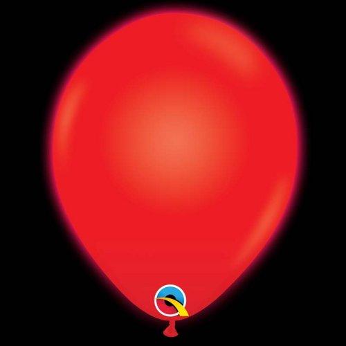5 Ballons Rouge Lumineux LED