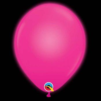 5 Ballons Rose Fuchsia Lumineux LED