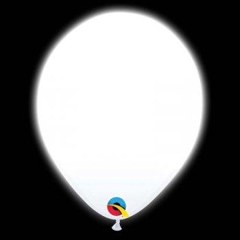 5 Ballons Blancs Lumineux LED