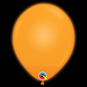 5 Ballons Orange Lumineux LED