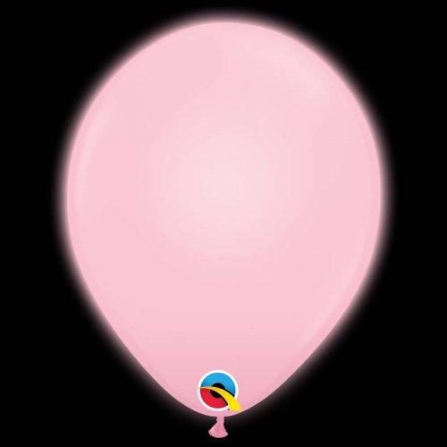 5 Ballons Roses Lumineux LED