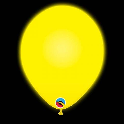 5 Ballons Jaunes Lumineux LED