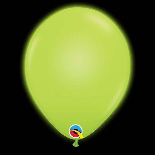 5 Ballons Verts Lumineux LED
