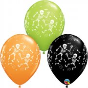 25 Ballons Halloween Squelettes