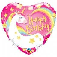 Ballon Gonflé à l'Hélium Licorne Coeur
