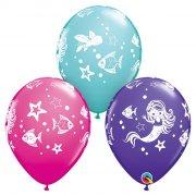 25 Ballons Sirène et Animaux Marins