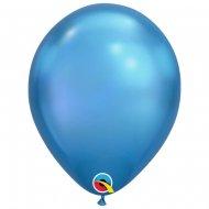 25 Ballons Bleu Chrome