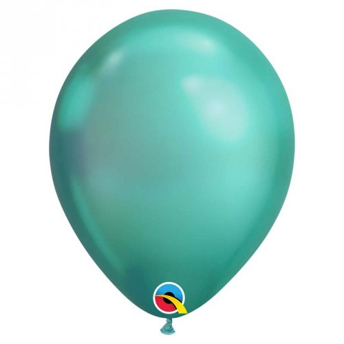 25 Ballons Vert Chrome