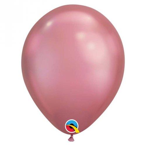 25 Ballons Mauve Chrome