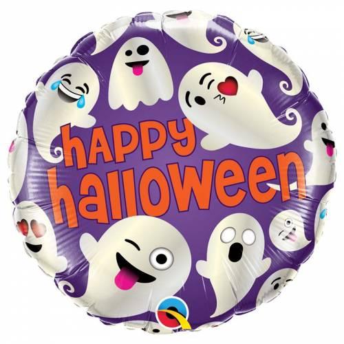 Ballon Gonflé à l Hélium Happy Halloween Fantômoji