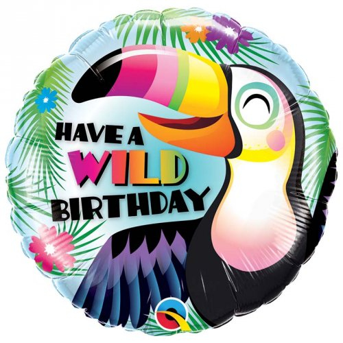Ballon à Plat Toucan Wild Birthday