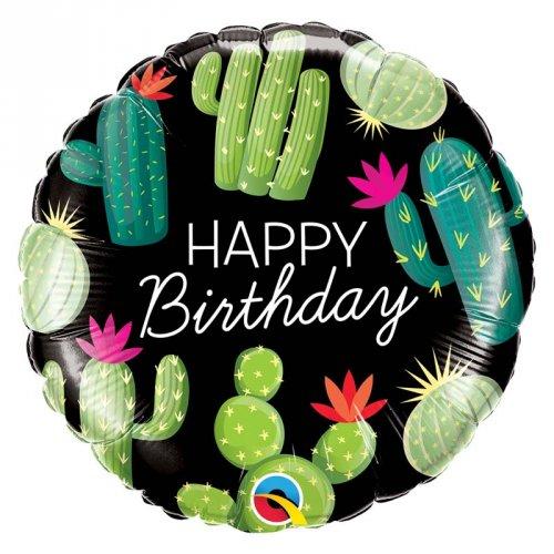 Ballon à Plat Happy Birthday Cactus