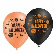 10 Ballons Happy Halloween Orange & Noir