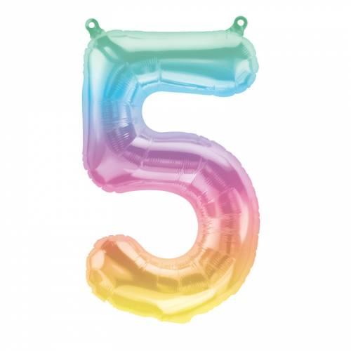 Ballon Chiffre 5 Jelli Ombre (41cm)