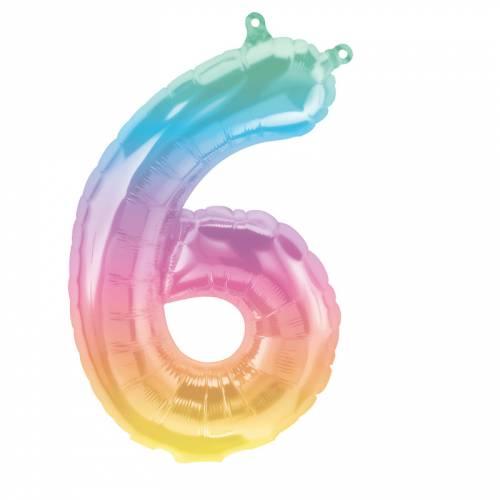 Ballon Chiffre 6 Jelli Ombre (41cm)