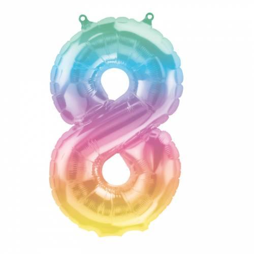 Ballon Chiffre 8 Jelli Ombre (41cm)
