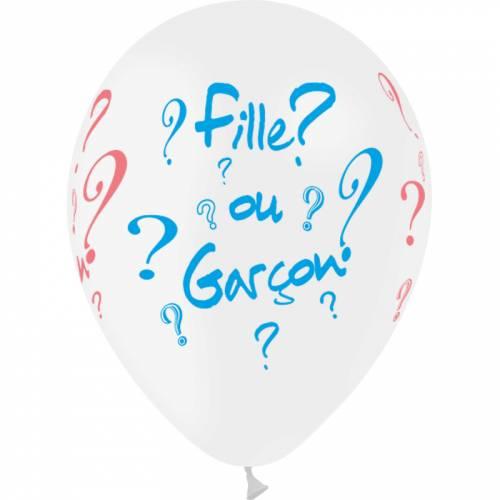 8 Ballons Fille ou Garçon ?