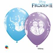 6 Ballons La Reine des Neiges 2