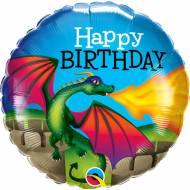 Ballon Gonflé à l'Hélium Dragon Mythique Happy Birthday