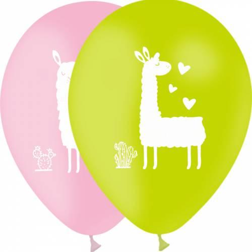 10 Ballons Assortis Lama 30 cm