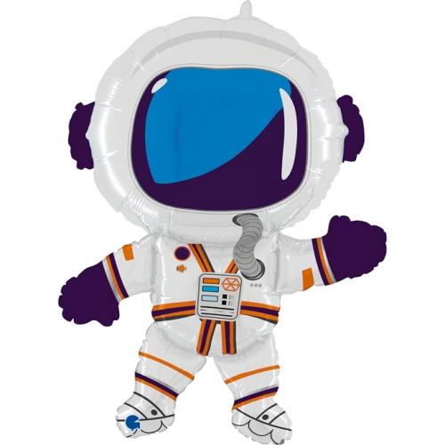 Ballon Géant Happy Astronaute - 91 cm