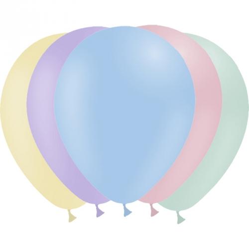25 Petits Ballons Assortis Pastel 13 cm