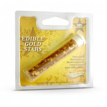 Paillettes comestibles Étoiles Or