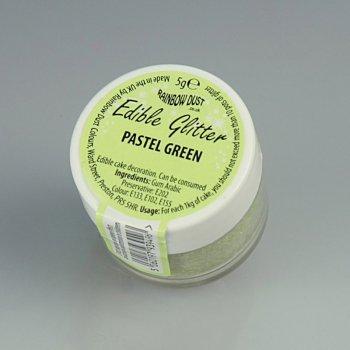 Poudre Paillettes comestibles Vert Pastel (5 g)