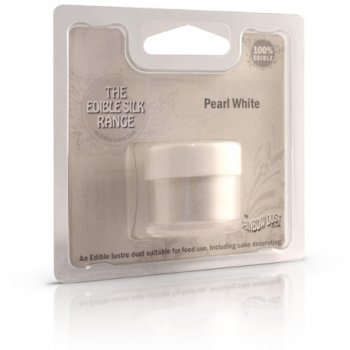 Poudre alimentaire Métallic Blanc Perle