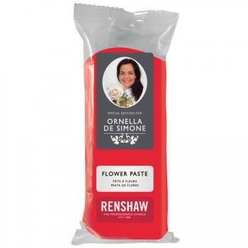 Pâte à sucre Rouge modelage Fleurs 100g Renshaw