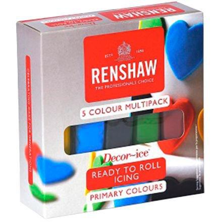 Pack 5 Pâtes à Sucre Couleurs Primaires Renshaw