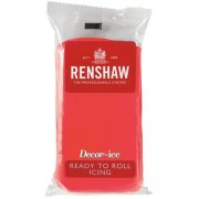 Pâte à sucre Rouge Coquelicot 500g Renshaw