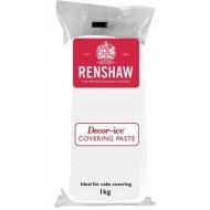Pâte à sucre de couverture 1kg Renshaw Blanc